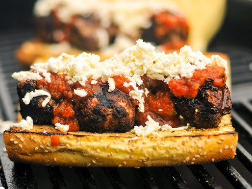 Grilled Meatball Parmesan Sub - Beautiful Life Magazine