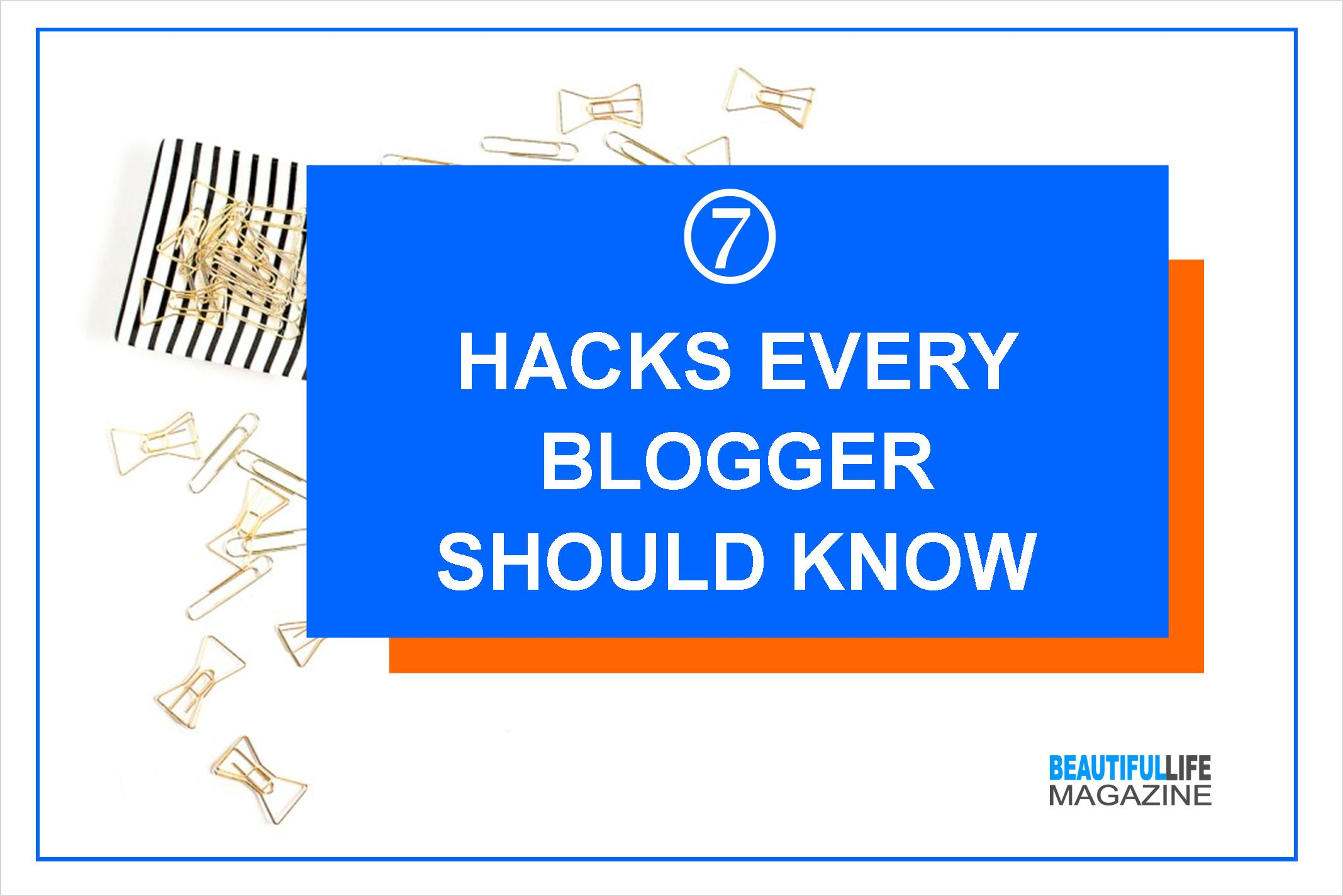 Over the past few years I learned a few strategies that help me keep the blog flowing. Today I am sharing seven hacks that will hopefully make your blogging life easier.