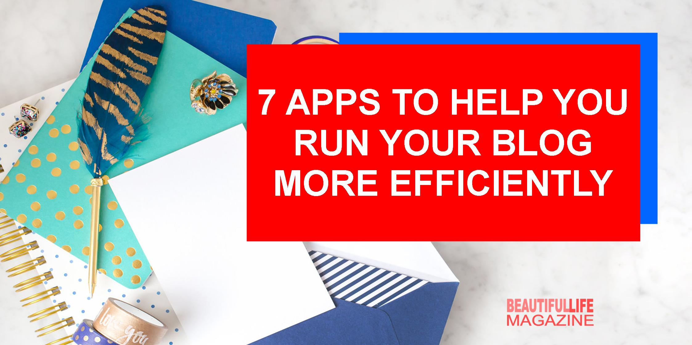 So I've tested app after app to make sure I can quickly plan, write, edit, find the info I need, or share info with someone else. Here are 7 of my favorites apps and how I use them to keep your blog running smoothly all week long, and you can use to help you run your blog more efficiently.